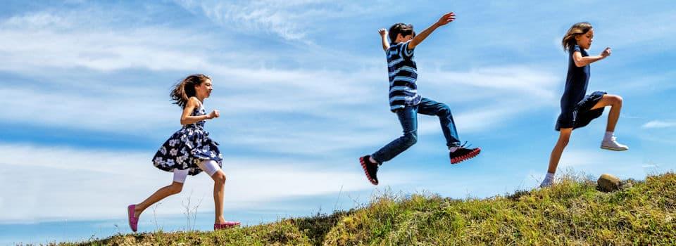 joyful-children-slide