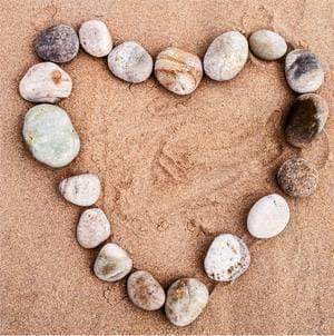 rocks-in-a-heart-shape