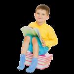 Child boy reading