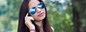 Girl Blue Tinted Sunglasses 1280x480 1024x384 1