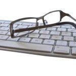 Glasses on Computer Keyboard 1280x480 1024x384 1