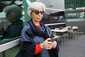 Senior Woman Phone Thumbnail